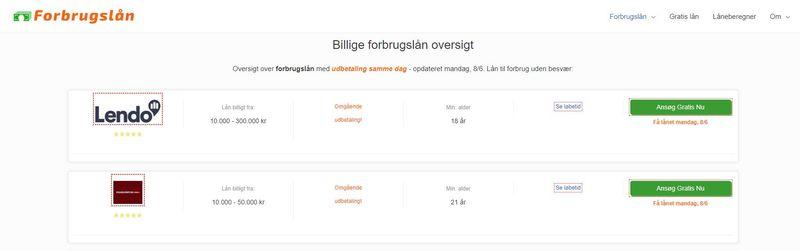 Forbrugslån på Forbrugslån-billige.dk